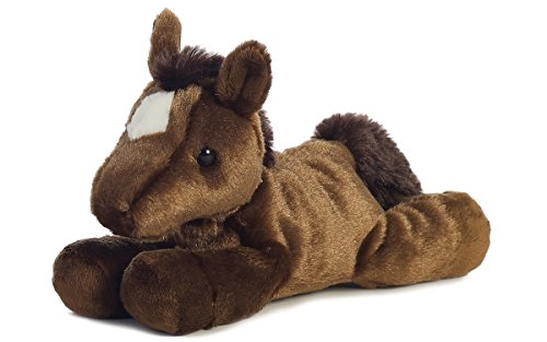 "Aurora Plush Chestnut Brown Mini Flopsie Horse 8"" - 1"