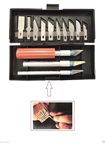 Wennow 13 Piece Exacto Knife Kit Scrapbooking Crafts Shop Presicion Hobby Knives set