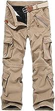 Shoesea Men39s Loose Fit Winter Casual Fleece Lining Design Straight Long Pants
