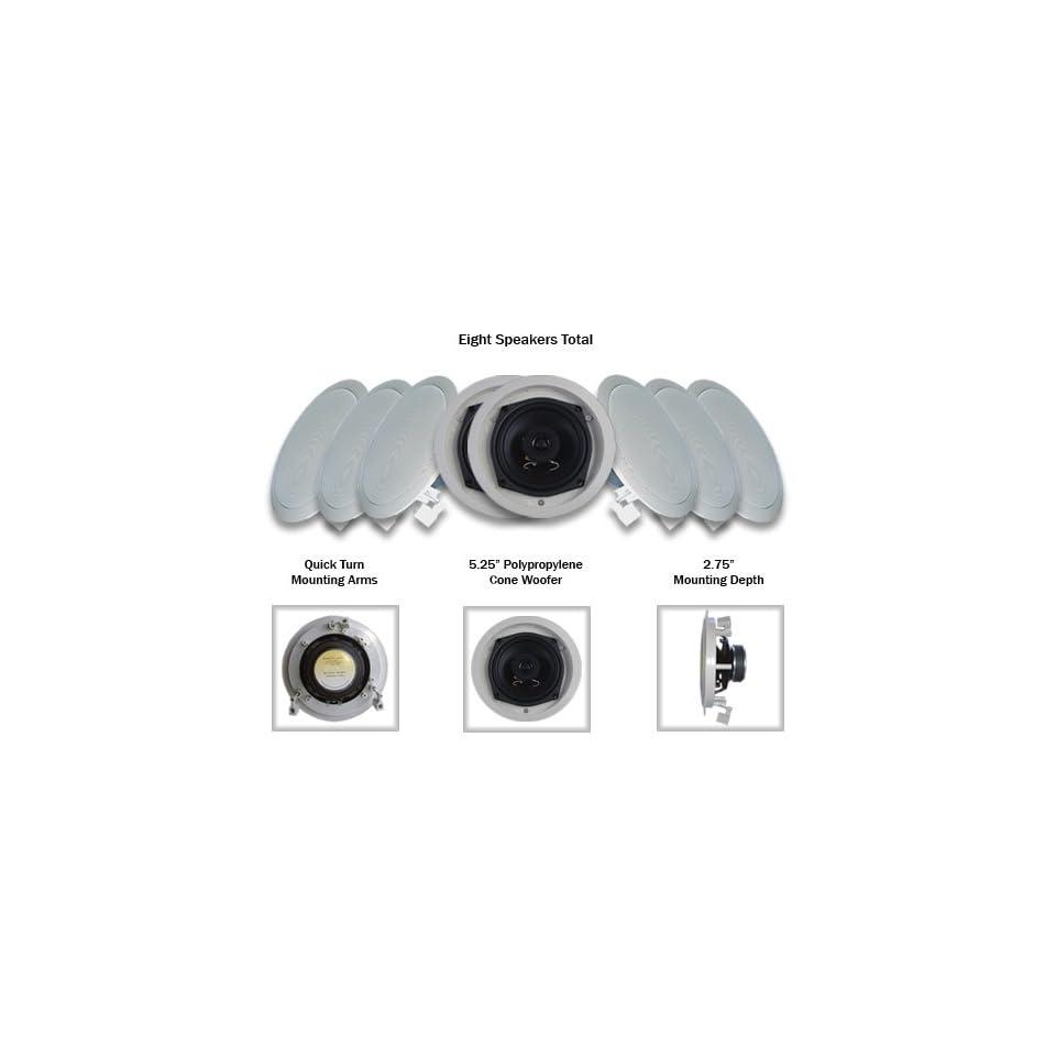 Acoustic Audio R191 8PKG (8) 200 Watt In Wall/Ceiling Home Speakers