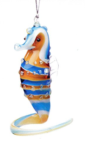 Glass Seahorse Christmas Ornament or Just a Hanging Ornament