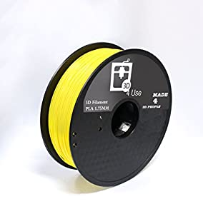 3D Printer Filament PLA Yellow Color 1.75mm 1kg (2.2 lbs) Dimensional Accuracy +/- 0.05mm. 3D Printing Filament bought to you by 3D4USE. from 3D4USE