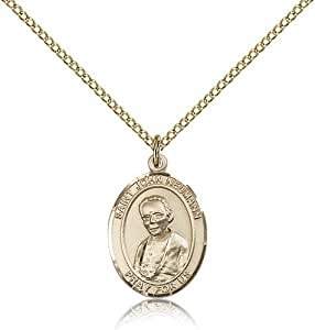 Gold Filled Women's Patron Saint Medal of ST. JOHN NEUMANN - Includes