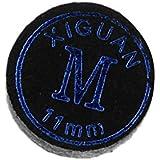 Baoblae High Quality Leather Billiard Pool Cue Tips Black 11mm/13mm - Soft/ Medium/ Hard