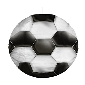 abat jour boule japonaise ballon football 34 cm de diametre suspension luminaire decoration. Black Bedroom Furniture Sets. Home Design Ideas