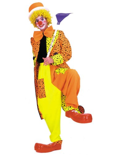 Dapper Dan Neon Clown Md Halloween Costume - Adult Medium