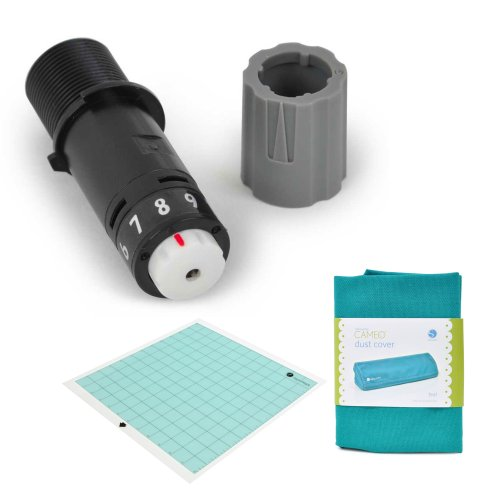 Silhouette Replacement Blade, Black With Replacement Cutting Mat 12'' X 12'' And Dust Cover Teal