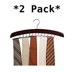 Closet Accessories 24 Tie Hardwood Hanger (2 Pack) by Richards Homewares