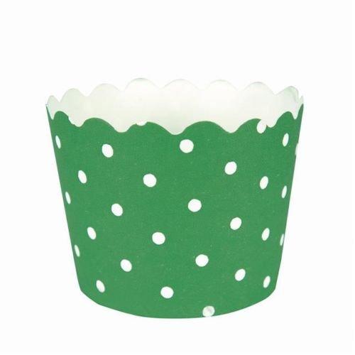 Gala de color verde esmeralda de lunares para tartas/12 x moldes para cupcakes