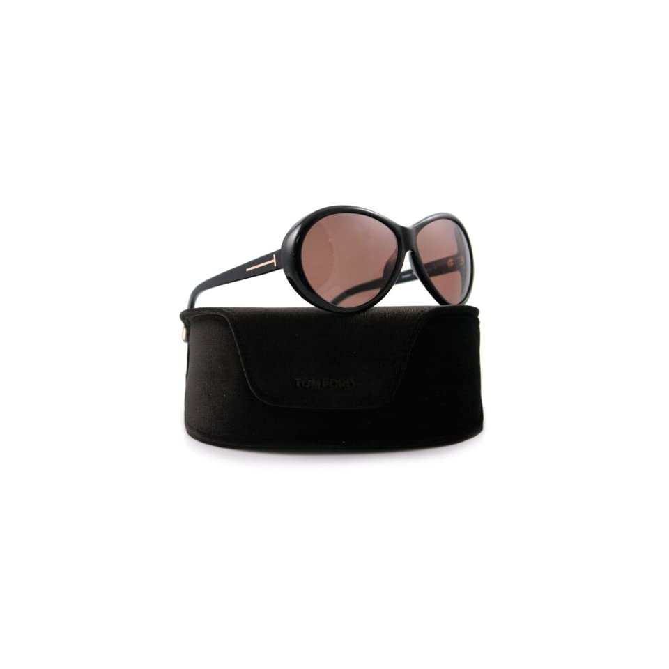 37b7f6ee9a44 Tom Ford TF 202 Geraldine 01J Black Sunglasses on PopScreen