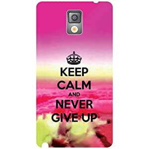 Samsung Galaxy Note 3 N9000 - Never Give Up Matte Finish Phone Cover