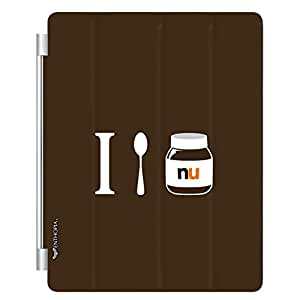 Enthopia Designer Front Smart Cover I LOVE NUTELLA for Apple Ipad 2/3/4 with Transparent Back Case