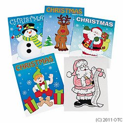 "1 X Christmas Coloring Books - Pack of 12 - 8"" x 10 3/4"""