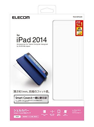 ELECOM iPad Air 2 シェルカバー スマートカバー対応 薄さ約1mm クリア TB-A14PV2CR