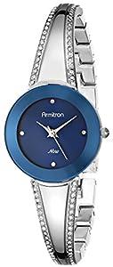 Armitron Women's 75/5151BLSV Swarovski Crystal-Accented Silver-Tone Bangle Watch