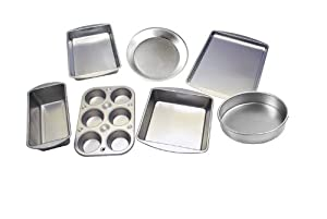 The Best Premium Bake Set - 7-Piece Kitchen Bakeware Set - Including Square Cake Pan,... by Le Juvo