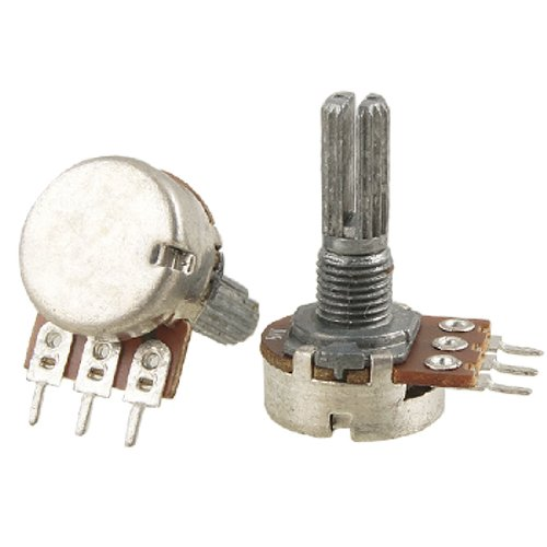 2 Pcs B1K 1K ohm Single Linear Taper Ratory Potentiometers