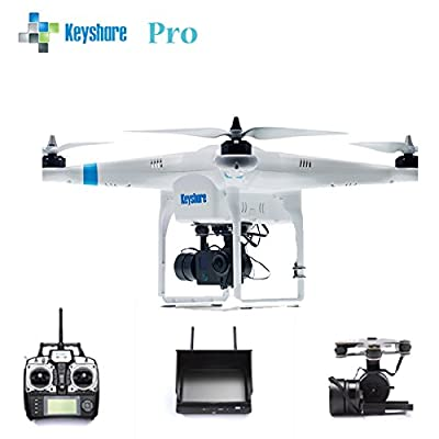 Professional Aerial Photography FPV Version Drone with 12MP HD Camera and 7' FPV Screen - Full function Quadcopter