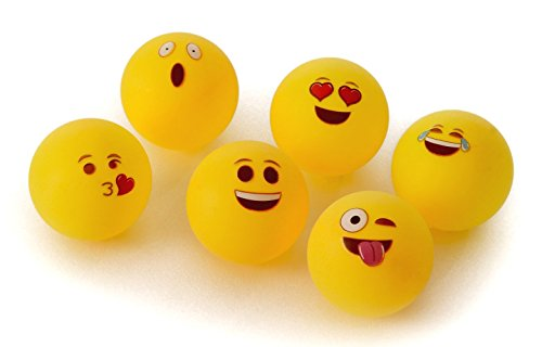 Emoji Universe Beer Pong Balls Table Tennis Balls 6 Pack