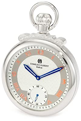 Charles-Hubert Pocket Watch 3873-W Chrome Plated Open Face