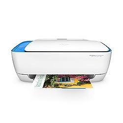 HP Deskjet 3636 Multifunktionsdrucker (A4, WLAN Drucker, Scanner, Kopierer, HP Instant Ink, Apple AirPrint, ePrint, USB, 4800 x 1200 dpi) weiß/blau