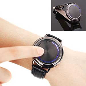 HDE Blue Analog LED Touch Screen Watch $11.30