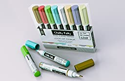 Look of Chalk Pens in 8 Colors - Terra Cotta Earth Tone Wet Wipe Markers from Chalky Talky