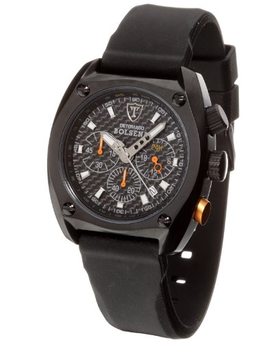 DETOMASO Bolsena Chronograph Gents Watch Silicone SP1552C-BK1