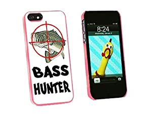 Graphics and More Bass Hunter Fish Fishing Fisherman Snap-On Hard Protective Case for iPhone 5/5s - Non-Retail Packaging - Pink