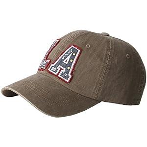 B176 Mens Womens Washing LA Stud Camping Major Ball Cap Baseball Hat Truckers (Khaki)