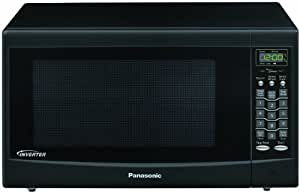 Panasonic NNSN668B 1.2cu.ft. 1200W Genius Inverter Microwave Oven (Black)
