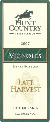 2007 Hunt Country Late Harvest Vignoles Finger Lakes Estate Bottled 375 Ml