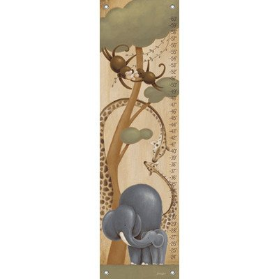 "Oopsy Daisy Growth Chart, Safari Kisses, 12"" x 42"""