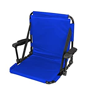 Blue Stadium Chair With Back Arm Rests And Padding by Blue Ridge Product Solutions LLC