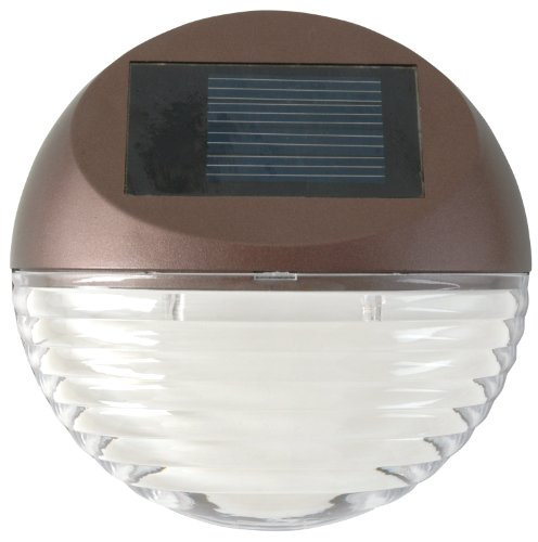 Moonrays 95027 Wall/Post Mount Solar Deck Light, Round
