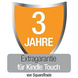 3 Jahre Garantie + Unfall- und Diebstahlschutzversicherung für Kindle Touch (Wi-Fi), nur Deutschland