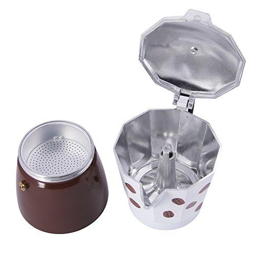 Stovetop Coffee Maker Parts : Jimei Italian Moka Express Stovetop Espresso Maker Pot Coffee Latte 6 cups Home Garden Kitchen ...