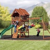 Big Sale Best Cheap Deals Highlander Deluxe Cedar Play Set with Slide