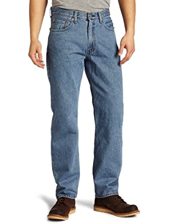 Levi's Men's 550 Relaxed Fit Jean, Medium Stonewash, 28x32