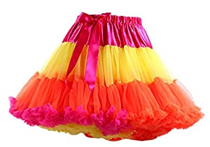 Honeystore Tanzkleid Ballettrock Kinder Mädchen Damen Tutu Rock Schleife Pettiskirt für Show Party Cosplay