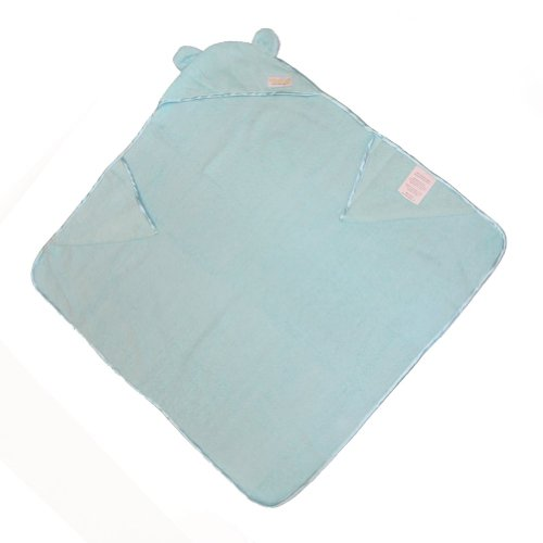 Woombie Organic Cuddle Towels, Aqua, 0-3 Years back-1006238
