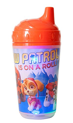 Nickelodeon Paw Patrol Double Wall Led Light Up Sip Cup, Red/Blue