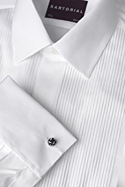 2in Longer Sartorial Pure Cotton Ribbed Dress Shirt