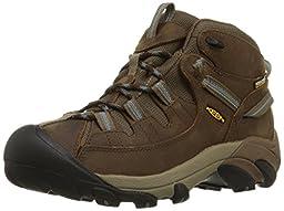 KEEN Women\'s Targhee II Mid WP Hiking Boot,Slate Black/Flint Stone,9 M US