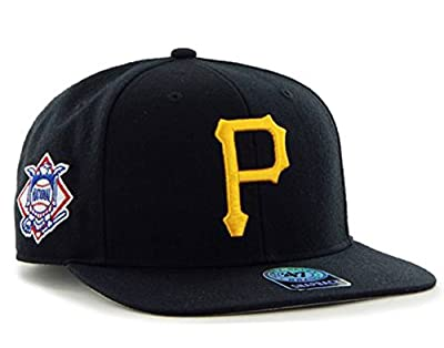 47 Brand Pittsburgh Pirates Sure Shot Mens Snapback Hat B-SRS20WBP-BK