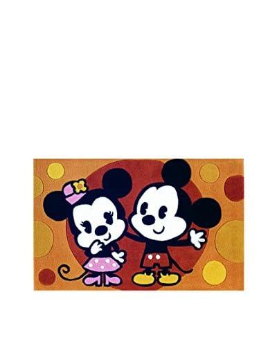 ABC Alfombra Mechón Mano Mickey Mouse Marrón 69 x 108 Cm