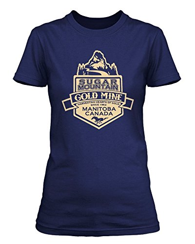 Neil Young inspired Sugar Mountain Heart of Gold T-shirt, Donne, Large, Blu reale