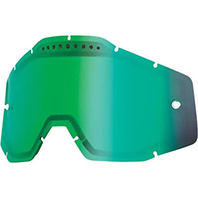 100% Dual Vented Lens for Racecraft/Accuri Goggles - Mirror Green 51006-005-02
