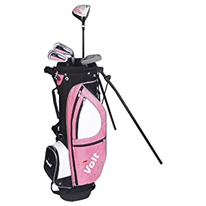 Voit Xp Junior Golf Club Set and Pink Stand Bag (for Girls ages 4-7) from Voit Golf