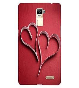 ColourCraft Love Hearts Design Back Case Cover for OPPO R7